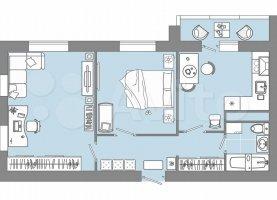 2-комнатная квартира на продажу, 57.3 м2, Ульяновская область
